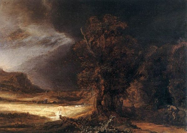 Rembrandt's Landscape with the Good Samaritan